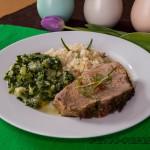 Kalbsbraten mit Bärlauch-Zucchini
