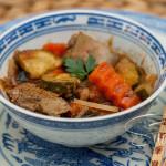 Hähnchenleber asiatisch in Kokos-Curry-Soße