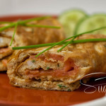 Lachs-Wraps aus Omelett